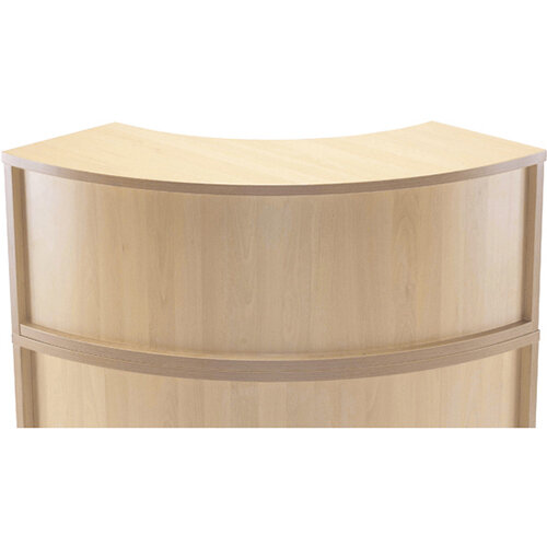 Jemini Modular Reception Radial Hutch Unit Maple - Reception Desk Riser For Corner Base Unit Maple