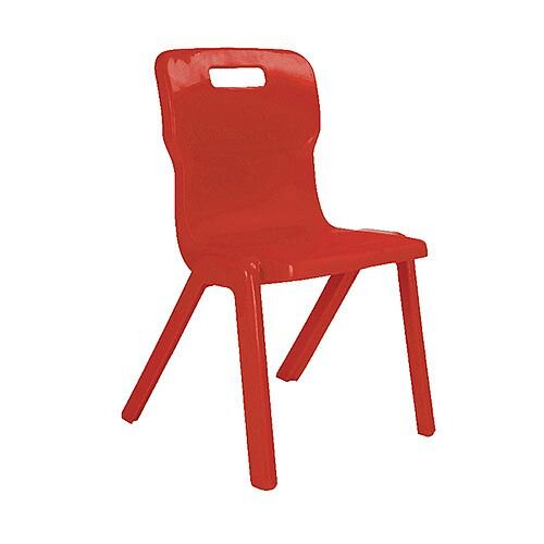 Titan One Piece School Chair Size 5 430mm Red Pack of 10