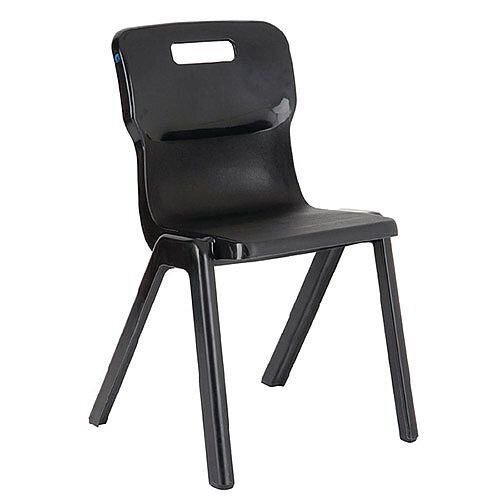 Titan One Piece School Chair Size 5 430mm Charcoal Pack of 10