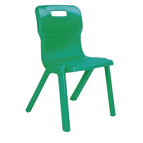 Titan One Piece School Chair Size 2 310mm Green Pack of 10