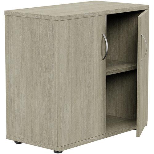 Low Cupboard with Lockable Doors W800xD420xH770mm Arctic Oak Kito