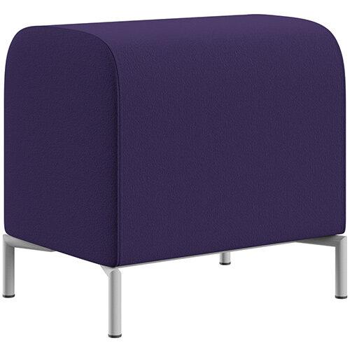 SIGMA MODULAR Soft Seating Pouffe With Standard Metal Legs - Camira BLAZER 100% Wool Fabric