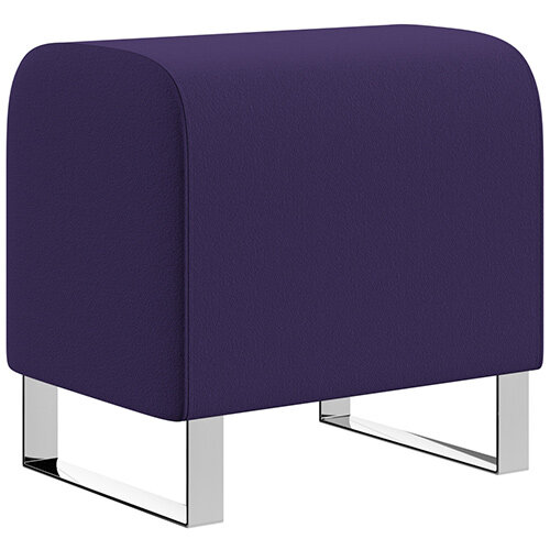 SIGMA MODULAR Soft Seating Pouffe With Cantilever Chrome Legs - Camira BLAZER 100% Wool Fabric