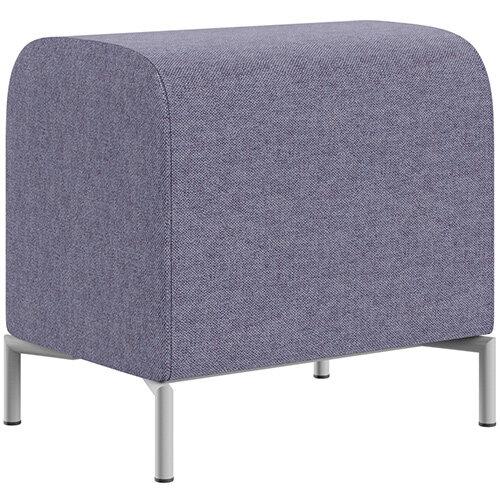SIGMA MODULAR Soft Seating Pouffe With Standard Metal Legs - MAIN LINE FLAX Fabric