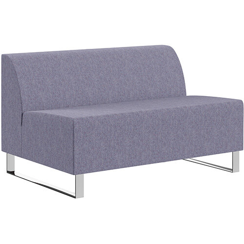 SIGMA MODULAR Soft Seating 2 Seater Unit With Cantilever Chrome Legs - MAIN LINE FLAX Fabric
