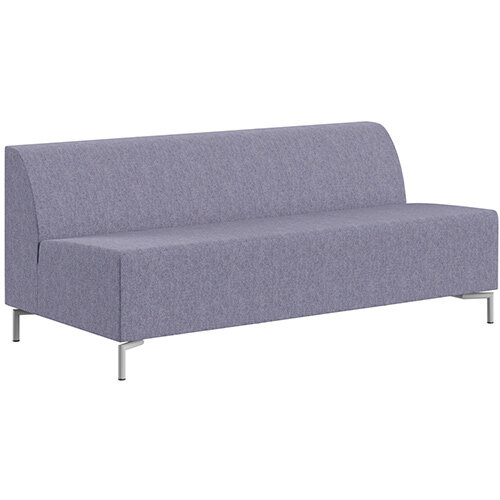 SIGMA MODULAR Soft Seating 3 Seater Unit With Standard Metal Legs - MAIN LINE FLAX Fabric