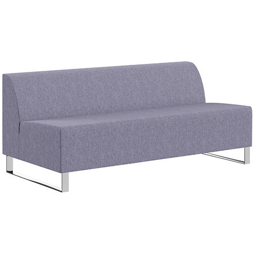 SIGMA MODULAR Soft Seating 3 Seater Unit With Cantilever Chrome Legs - MAIN LINE FLAX Fabric