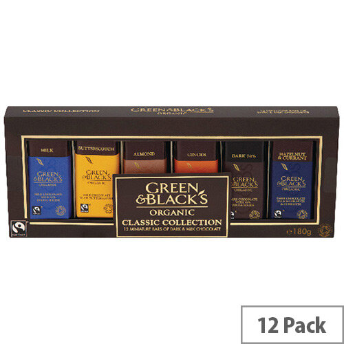 Green and Blacks Miniatures Variety Pack (Pack of 12 in Total) 666695