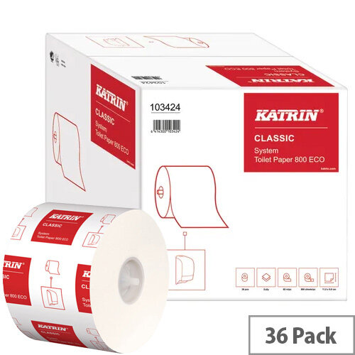 Katrin Classic System Toilet Roll ECO Pack of 36 103424