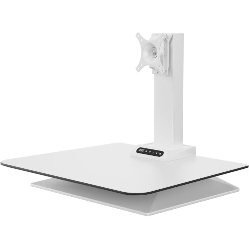 Leap Crossbar Sit-Stand Desk Converter for Single Monitors White