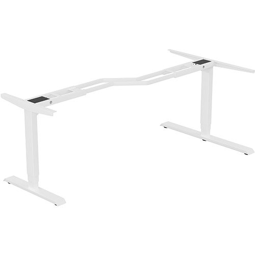 Leap Radial 3 Stage Electric Height Adjustable Telescopic Frame White - Suitable for desktop width 1600,1800mm