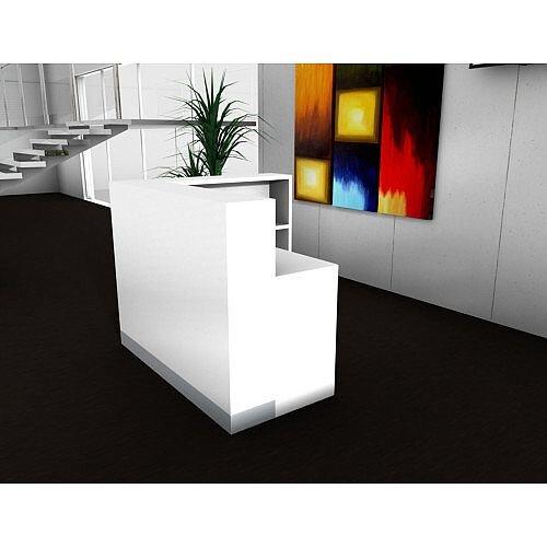 Organic Modern White Corner Reception Desk W1400mmxD1260mmxH1105mm