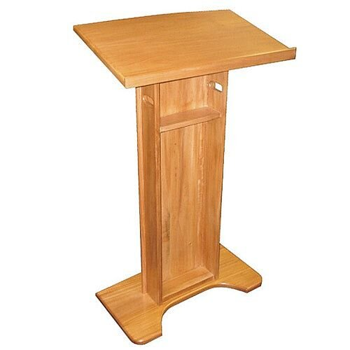 Floor Standing Wood Lectern 1190mm Mahogany