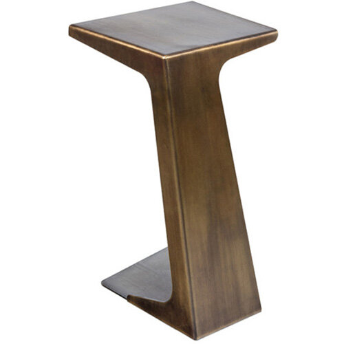 Frovi Laptop Table With Vintage Brass Frame H670xW420xD490mm
