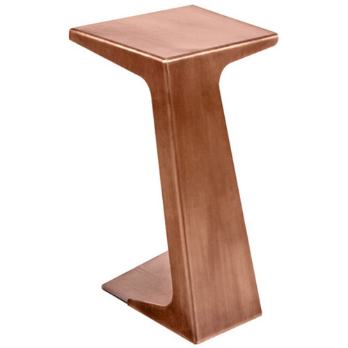 Frovi Laptop Table With Vintage Copper Frame H670xW420xD490mm