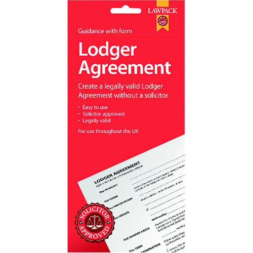Law Pack Lodger Agreement UK Pack of 5 F333