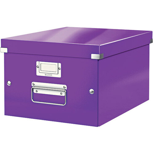 Leitz WOW Click and Store Box Medium Purple 60440062