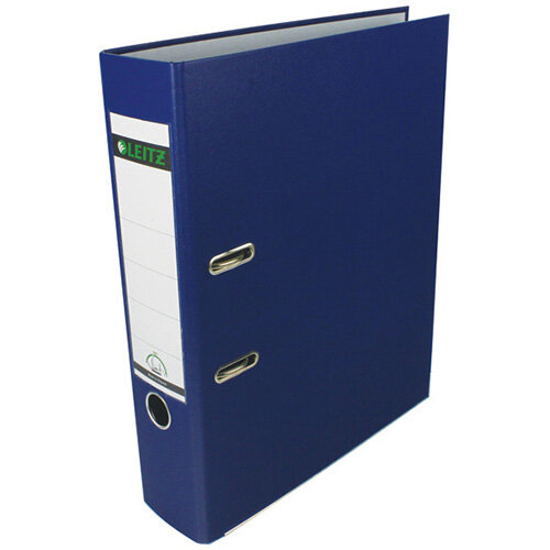 Leitz 180 Polypropylene Foolscap Blue Lever Arch File Pack of 10 1110-35