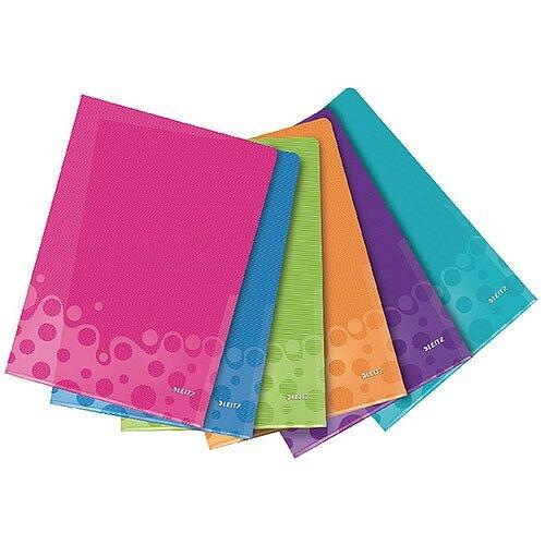 Leitz WOW A4 Polypropylene Folder Assorted Pack of 6 40500099
