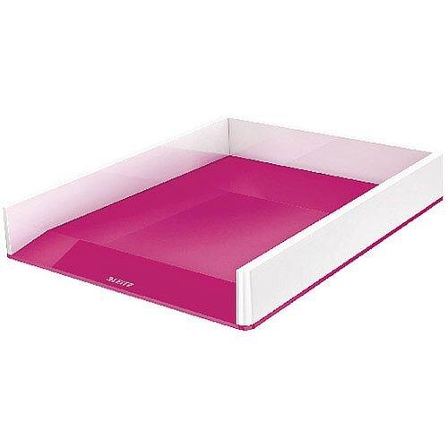 Leitz WOW Letter Tray Dual Colour White/Pink 53611023