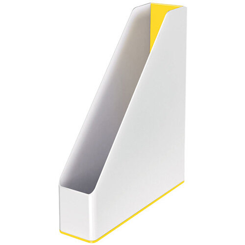 Leitz WOW Magazine File Dual Colour White/Yellow 53621016
