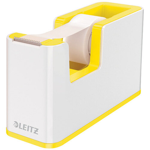 Leitz WOW Tape Dispenser Dual Colour White/Yellow 53641016