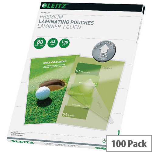 Leitz iLAM Premium Laminating Pouches UDT A3 160 Micron Pack of 100 74850000
