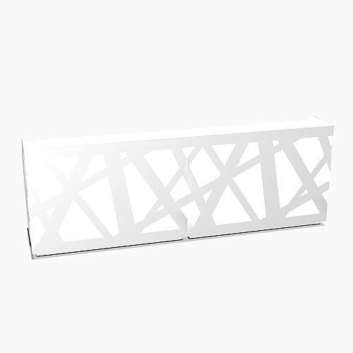 Zig Zag Modern Design Illuminated Solid Surface Straight White Reception Desk W3200mmxD880mmxH1146mm
