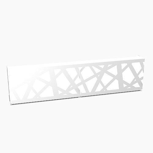 Zig Zag Modern Design Illuminated Solid Surface Straight White Reception Desk W4400mmxD880mmxH1146mm