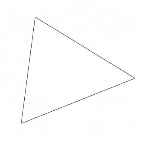 Franken Magnetic White Triangle Symbols Pack of 49 M865 09