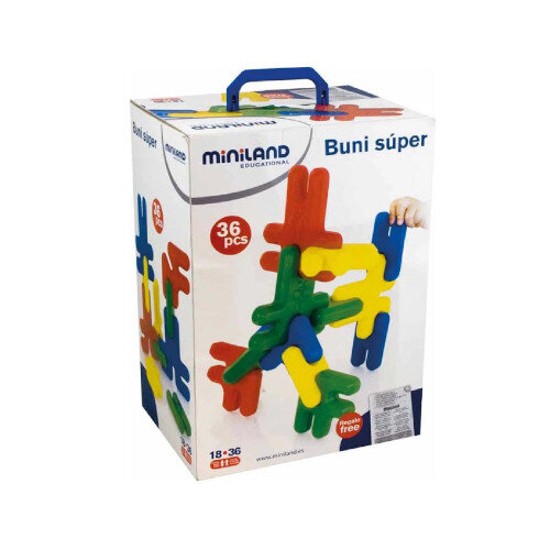 Buni Maxi Building Blocks Assorted Colours 36 Pieces