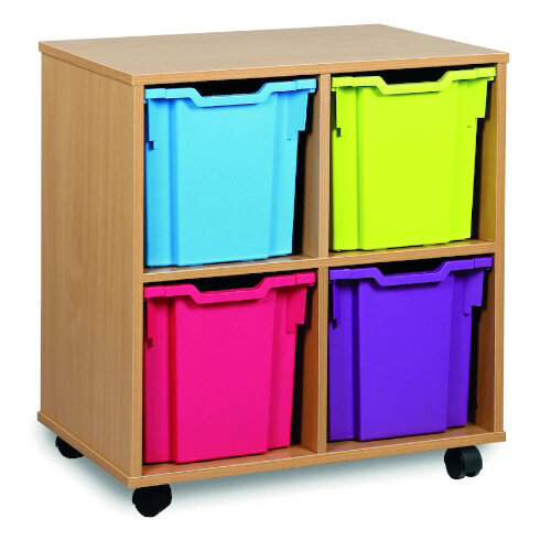 Tray Storage Unit With Four Jumbo Trays Brights H739mm