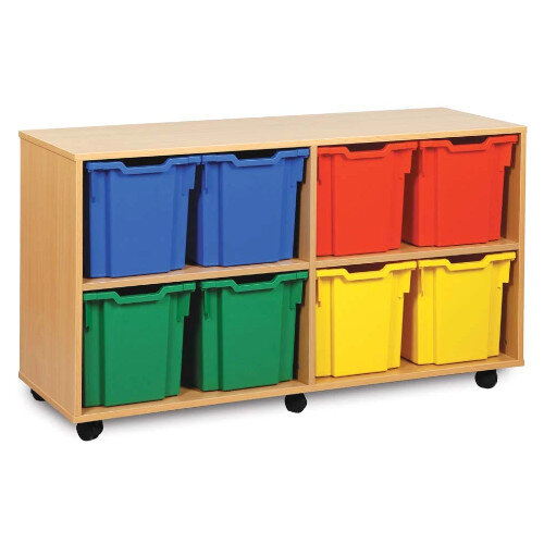 Tray Storage Unit With 8 Jumbo Trays Brights H739mm