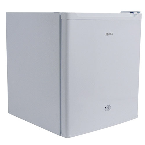 Igenix Compact Refrigerator Counter-top Lockable B-rated 42dB 20kg 50 Litre White IG3710 A+