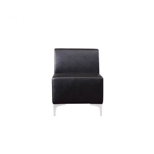 Korby Executive Modular Middle Section Sofa in Black Faux Leather