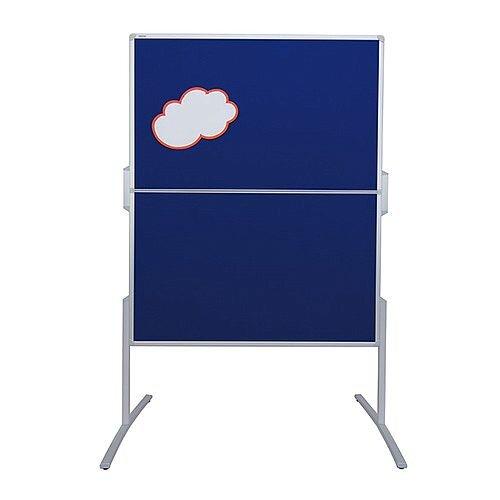 Franken PRO Foldable Training Board Blue Felt Double Sided 1200x1500mm MT880303