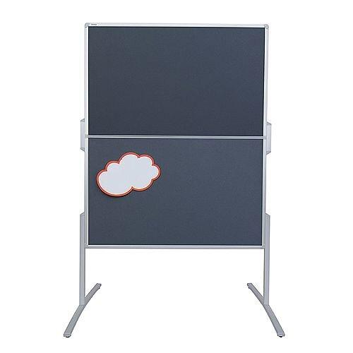 Franken PRO Foldable Training Board Grey Felt Double Sided 1200x1500mm MT880312