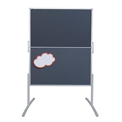 Franken PRO Foldable Training Board Blue Felt/Lacquered Whiteboard 1200x1500mm MT881303