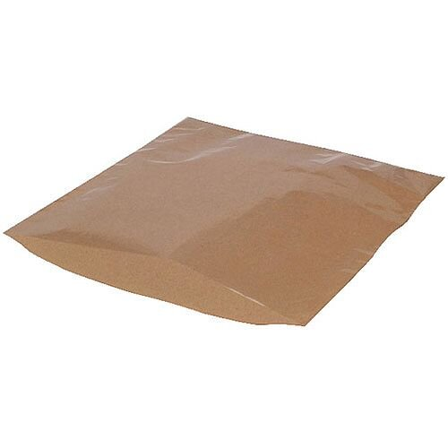 MyCafe Kraft Film Front Bags 250x250mm Brown Pack of 1000 303354