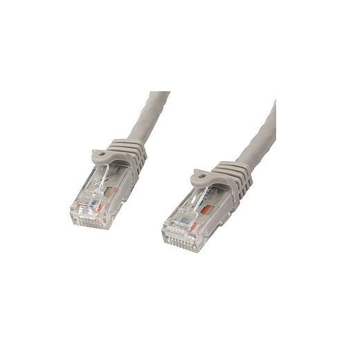 StarTech 2m Gray Gigabit Snagless RJ45 UTP Cat6 Patch Cable 2 m Patch Cord 1 x RJ-45 Male Network 1 x RJ-45 Male Network Patch Cable Gold Plated Connector Grey