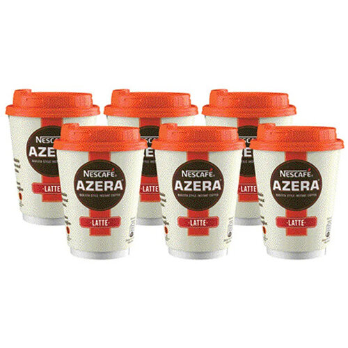 Nescafe Azera To Go Latte Cup and Lids Pack of 6 12347851