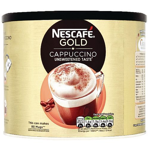 Nescafe Gold Instant Cappuccino Coffee 1kg Tin Pack of 1 12144978