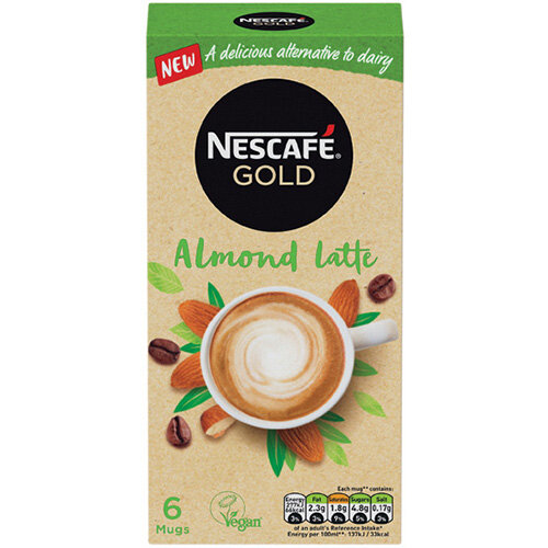 Nescafe Gold Almond Latte 16g Pack of 30 12429889
