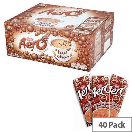 Nestle Aero Hot Drinking Chocolate Powder Sachets 24g Pack 40 12203209