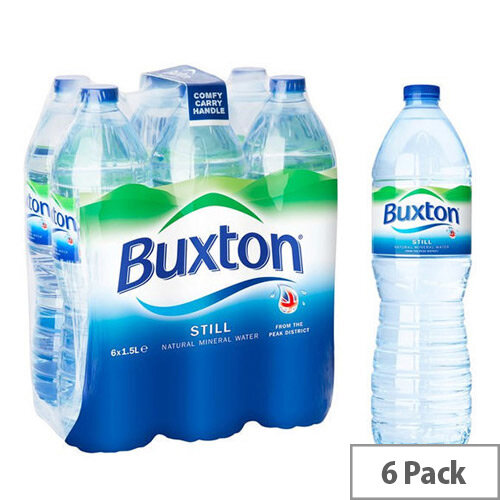 Buxton Natural Mineral Still Water Plastic Bottled 1.5L Pack 6