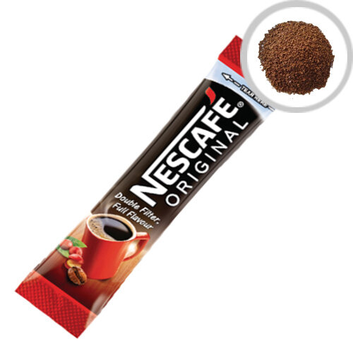 Nescafe Original Instant Coffee One Cup Sticks Sachets (Pack of 200) Selected Arabica and Robusta beans, Portable Sachets, Ideal for Reception Areas and Meeting Rooms 12165415