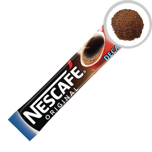 Nescafe Original Instant Decaffeinated One Cup Sticks Coffee Sachets Pack of 200 12138013