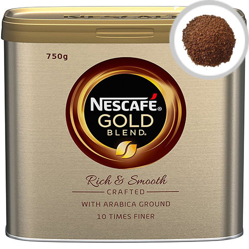 Nescafe Gold Blend Instant Coffee 750g, Caramel Flavors and Juicy Aroma, Instant Coffee Granules, Approx. 380 Cups (Pack of 1) 12284102