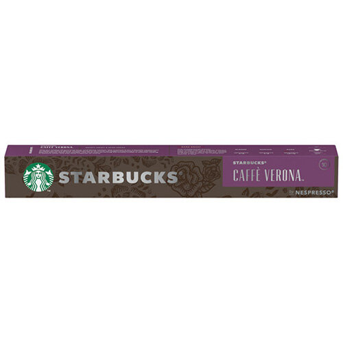 Nespresso Starbucks Caffe Verona Espresso Coffee Pods Pack of 10 Pods 12423396