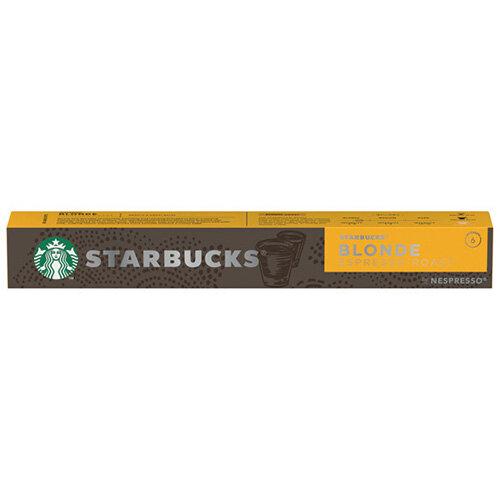 Nespresso Starbucks Blonde Roast Espresso Coffee Pods Pack of 10 Pods 12423392